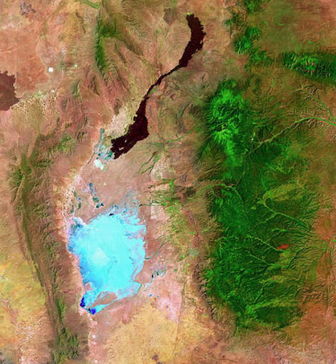 Landsat photograph of White Sands NM